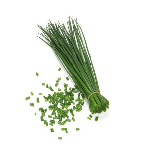 Chives sends up straight, slender shoots, eventually crowned with edible flowers that pollinators adore.