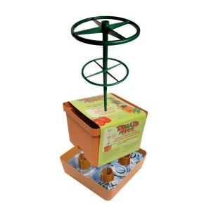 Hello, affordability! The Tomato and Pepper Tree is self-watering and climbs with your plant!