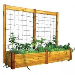 Available in many sizes, this handsome raised planter takes the pain out of working the soil!
