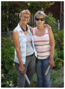 Image of Karen and Ann in Garden