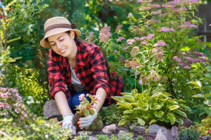 Image of Girl Gardening