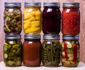 various foods pickling